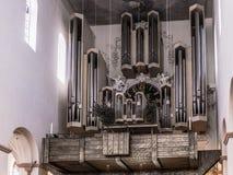 Wuerzburg Cathedral Interior. Church Organ Royalty Free Stock Photos