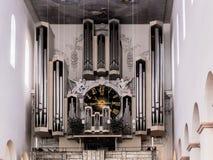 Wuerzburg Cathedral Interior. Church Organ Royalty Free Stock Image