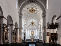Wuerzburg Cathedral Interior Stock Photography