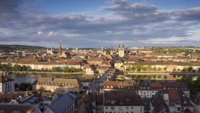 Wuerzburg City Panorama Royalty Free Stock Images