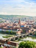 Wuerzburg Cityscape Stock Photos