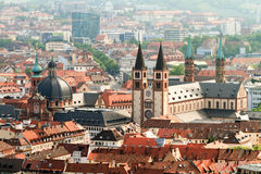 Wuerzburg Cityscape Royalty Free Stock Photos