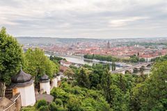 Wuerzburg Cityscape Royalty Free Stock Photography