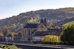 Wuerzburg in Franconia. Scenery in Wuerzburg, a bavarian city in in Franconia stock image