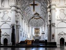 Wuerzburg katedry wnętrze Zdjęcia Stock