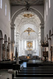Wuerzburg katedry wnętrze Zdjęcia Royalty Free