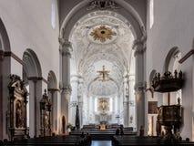 Wuerzburg katedry wnętrze Fotografia Stock