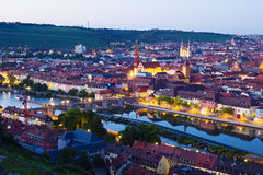 Wuerzburg at night Stock Image