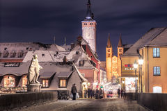 Wuerzburg at night Royalty Free Stock Photos