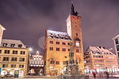 Wuerzburg at night Royalty Free Stock Image