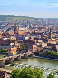 Wuerzburg Panorama Stock Images