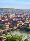 Wuerzburg Panorama Stock Images