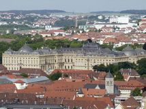 Wuerzburg residence Stock Photography