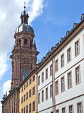 Wuerzburg University. The Neubaukirche ('Neubau Church') is one of the most important Buildings of sixteenth century vaulted architecture in Southern Germany Stock Image