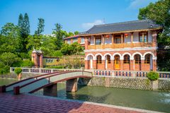 Wufeng Lin Family Mansion und Garten lizenzfreie stockbilder