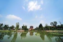 Wufeng torn i Luodai den forntida townen Arkivfoton