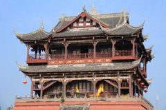 Wufeng Tower in Luodai Ancient Town Royalty Free Stock Images
