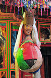 Wuge- A西藏人面具 免版税库存照片
