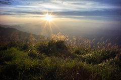Wugong bergnationalpark i solnedgång Royaltyfria Bilder