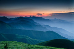 WuGong Mountain Sunrise Royalty Free Stock Photography