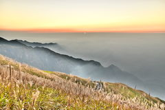 Wugong mountain. Wu Gong Mountain is a well-known mountain within Jiangnan area, which enjoys equal popularity with Hengshan, Lushan in history. They are called Royalty Free Stock Image