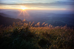 Wugong mountains national park in sunset. Pingxiang,Jiangxi province, China Stock Image