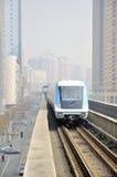 Wuhan, China: carril ligero foto de archivo