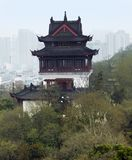 Wuhan in China. Historic building and skyline of Wuhan, a big city in China Royalty Free Stock Image
