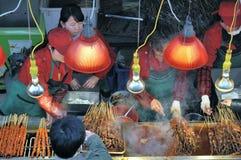 Wuhan, China: kebab de la calle Foto de archivo libre de regalías