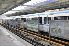 Wuhan,china: light rail stock photo