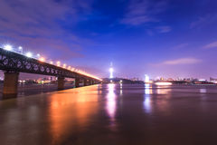 Wuhan, China at night Royalty Free Stock Images