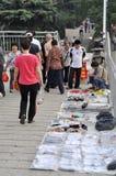 Wuhan, China: straatventers royalty-vrije stock afbeelding