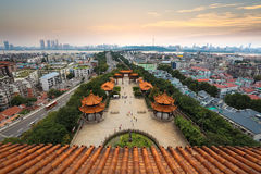 Wuhan city panorama royalty free stock photos