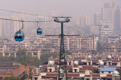 Wuhan city scene - cable car Stock Photography