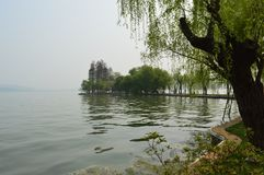 Wuhan East Lake ecotourism scenic area. Referred to as the East Lake scenic area, is located in the downtown of Wuhan, Hubei province. It is the 5A tourist royalty free stock photos