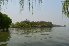 Wuhan East Lake ecotourism scenic area. Referred to as the East Lake scenic area, is located in the downtown of Wuhan, Hubei province. It is the 5A tourist stock image