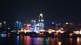Wuhan en la noche Fotos de archivo