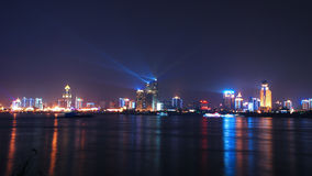 Wuhan en la noche Imagen de archivo libre de regalías