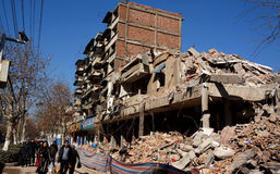 Demolición de la casa imagen de archivo libre de regalías