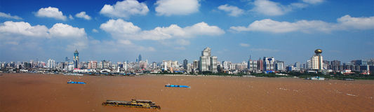 Wuhan landskap arkivfoto