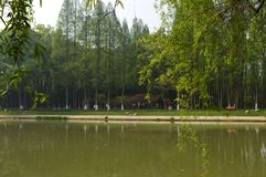 Wuhan Liberation Park. Was built in 1952. The park covers an area of 460 thousand square meters 76 thousand square meters of water, and the green space rate is Royalty Free Stock Photos