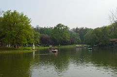 Wuhan Liberation Park. Was built in 1952. The park covers an area of 460 thousand square meters 76 thousand square meters of water, and the green space rate is Stock Image