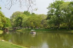 Wuhan Liberation Park. Was built in 1952. The park covers an area of 460 thousand square meters 76 thousand square meters of water, and the green space rate is Stock Photo