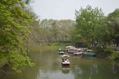 Wuhan Liberation Park. Was built in 1952. The park covers an area of 460 thousand square meters 76 thousand square meters of water, and the green space rate is Royalty Free Stock Images