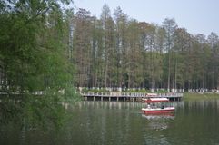 Wuhan Liberation Park. Was built in 1952. The park covers an area of 460 thousand square meters 76 thousand square meters of water, and the green space rate is Royalty Free Stock Image