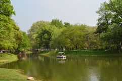Wuhan Liberation Park. Was built in 1952. The park covers an area of 460 thousand square meters 76 thousand square meters of water, and the green space rate is Stock Images