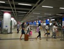 Wuhan metro hall Royalty Free Stock Photography