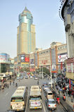 Wuhan, porcelaine : centre commercial Image stock