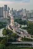 Wuhan Qintai viaduct and road royalty free stock photos