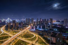 Wuhan 2rd Ring viaduct road royalty free stock image